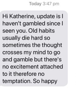 Stop gambling with hypnosis - client testimonial